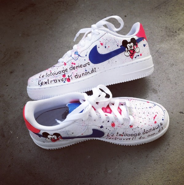 Air Force 1 Splatter Mickey